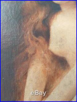 Elégante au seins nus XIXE
