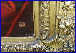 Elève De Largillière 112 X 93 Signé / Cadre -XVIII