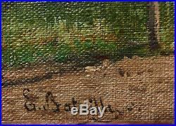 Émile BATAILLE tableau paysage potager ferme paysanne école de Barbizon campagne