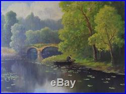 Emile GAUFFRIAUD 1877-1957 Huile sur toile HST CREUSE BRETAGNE Oil on Canvas