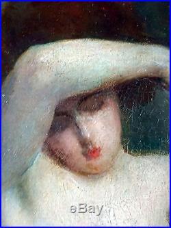 Emmanuel Fougerat (Français, 1869-1958) Ancien Tableau Peinture Huile Original