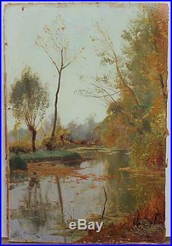 Etang à Bayon 1911, Léon Barotte (1866-1933) Nancy