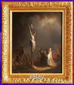 Étienne RAFFORT tableau religieux romantique Crucifixion Passion Christ Calvaire