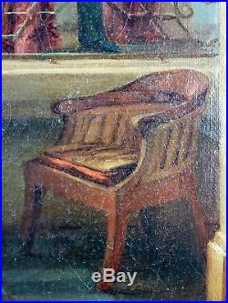 Etienne Vignes-Cayras (Français, XVIIIe-XIXe) Ancien Tableau Peinture Huile