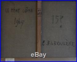 Eugène BABOULENE (1905-1994) Huile sur toile signée et contre sign au dos. V297