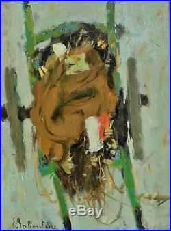 Eugène BABOULENE (1905-1994) La charrette du pêcheur Huile sur toile v 779