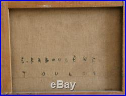 Eugène BABOULENE (1905-1994) Ma campagne Huile sur toile v694