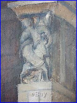 Eugène Edmond Thiéry (Français, 1875-1961) Ancien Tableau Peinture Huile
