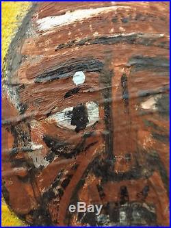 F Bernadi, Huile sur Toile, Pêcheurs relevant filet Collioure, signé, 100 cms
