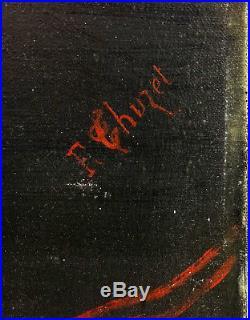 F. Thuzet Portrait Curé Epoque Restauration Huile sur toile XIXème siècle