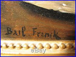Franck BAIL 1858-1924 Nature morte Benezit Musees Cote+++ Tableau Peinture Huile