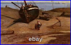 Frédéric LEGRIP peintre ROUEN tableau paysage marine bateau Rade BREST Bretagne