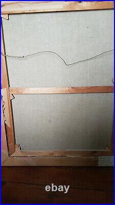 GRAND TABLEAU ANCIEN ÉPOQUE XVIIème PORTRAIT HUILE SUR TOILE