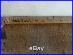 GRAND TABLEAU PEINTURE HUILE PORTRAIT HOMME NOBLE EPOQUE LOUIS XV XVI signé daté