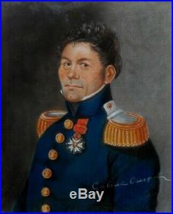 Gabriel Crespel, 1807, Officier du 1er Empire, Légion d'Honneur, Cadre d'Epoque