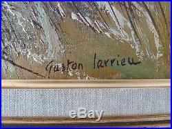 Gaston Larrieu école Basque huile sur toile