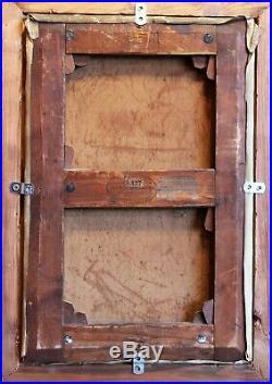 Georges Ferry, tentation, moine, femme, tableau, peinture, nature morte, France