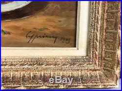 Grand Tableau / Peinture / Huile Sur Toile Signée Nature Morte 65cm X 54cm
