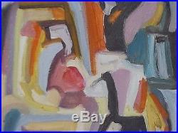 Grand Tableau peinture Huile sur toile 55cm/46cm Abstract oil Anne Picard