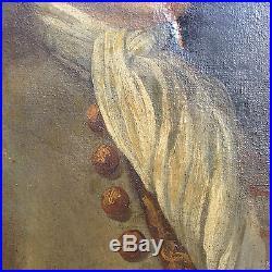 Grand portrait fin XVIII°, gentilhomme de la cour, Louis XVI, huile sur toile