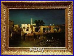 Grand tableau orientaliste d'apr. Charles Emile de TOURNEMINE