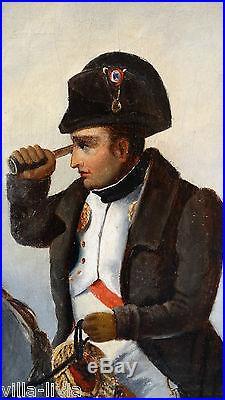 Huile sur toile » Blog Archive » Grand tableau signé Empereur Napoléon Bonaparte à cheval Grande ...