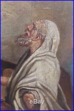 Grande Huile S/toile 18eme Scene Mythologique Vestales
