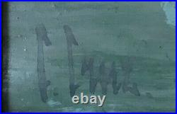 Grande huile sur toile Signé CRUZ Cancale 1959 Exposé Galerie Framond Paris