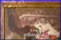 Grande huile sur toile nu assis art déco G. NAUWELAERST (belge)