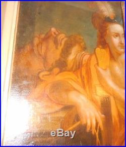 Grande toile du XVIIIé siecle FRANCAIS DAVID ET GOLIATH