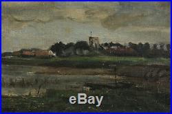 HST, Paysage de Flandre, Pays-Bas, Signé, Provenance d'une Galerie à Londres