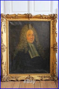 HST Portrait magistrat école française XVIIIe LARGILLIERE Louis XIV justice juge