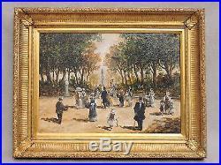 HST huile sur toile ancienne signé TURRI scénette Italie 92 x 73 cm