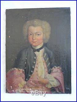 HUILE-PORTRAIT ENFANT-NOTABLE-FRANCOIS DE CALVET-VILLENEUVE LES AVIGNON-XVIIIéme
