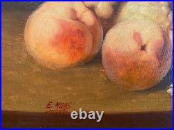 HUILE SUR TOILE, Nature morte aux fruits et vignes de raisins, signée ELIAS MAAS