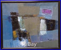 Henri Mauduit huile sur toile signée art abstrait abstraction lyrique Bordeaux