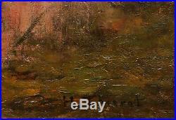 Henri THIEROT tableau symboliste baigneuses femme nue paysage symbolisme COROT