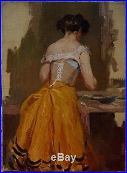 Henri Thomas, 1900, Bénézit, Cote Enorme! Femme à la Toilette