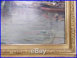 Henry Malfroy école française marseille toulon tableau ancien encadré
