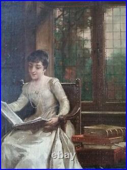 Hst Portrait Femmes Xixeme Siècle Impressionniste