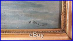 Hst huile sur toile marine signé A. Fournier peinture tableau