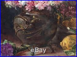 Huile Sur Toile Nature Morte Au Bronze De Chine Signée Girard Et Datée 1909