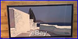 Huile sur Toile signée André BRICKA (1922 1999) Les 2 Cyprès