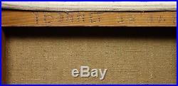 Huile sur Toile vers 1950 Femme Nue au Violoncelle Bon Etat 46 x 61 cm
