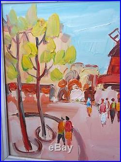Huile sur toile Jean-Louis DUBUC Septembre à Paris signée