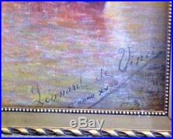Huile sur toile. Les Pecheurs. XIXème siècle