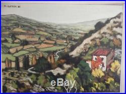 Huile sur toile Paysage de Provence signé Henri AUTRAN 63 Art Price Akoun