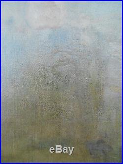 Huile sur toile ancien les lavandieres (ècole de barbizon)