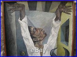 Huile sur toile antonio guansé 1954