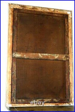Huile sur toile crucifixion Jésus crucifié début XIXe Siècle
